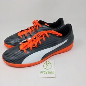 PUMA Spirit It Soccer Shoe black white orange